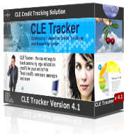 Continuing Legal Education CLE credit tracking, CLE credit compliance checking and CLE credit reporting solution - the easy way to track CLE credit and CLE seminar information for hundreds of attorneys.